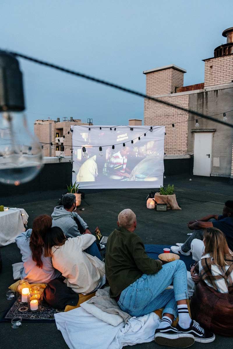 Rooftop Cinema Date